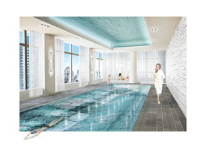 Rendering of the pool renovation proposed for Mandarin Oriental, New York